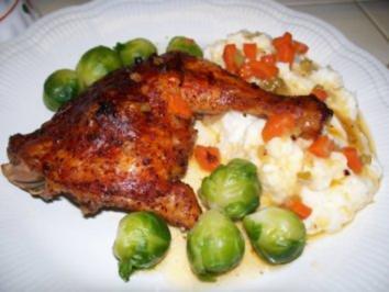 Klassische Hühner-Schenkel - Rezept