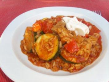 Pfannengerichte: Paprika-Reis-Pfanne - Rezept