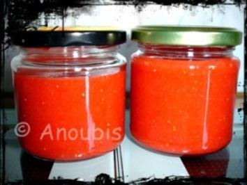 Brotaufstrich - Erdbeer-Fruchtaufstrich ohne Kochen - Rezept