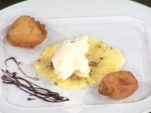 Sauerrahmeis mit Szechuanpfeffer und gebackener Feige (Nicolas Lecloux) - Rezept