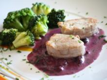 Beerenmenue: Hauptgericht: Schweinefilets an Blaubeer-Sauce - Rezept - Bild Nr. 2