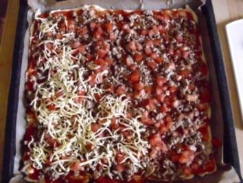 Hackfleischpizza - Rezept