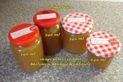 Melonen- Mango- Konfitüre - Rezept