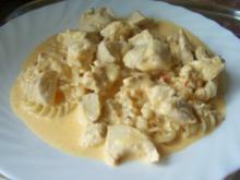 Auflauf: Hähnchenbrust in Käse-Sahne-Sauce, überbacken - Rezept