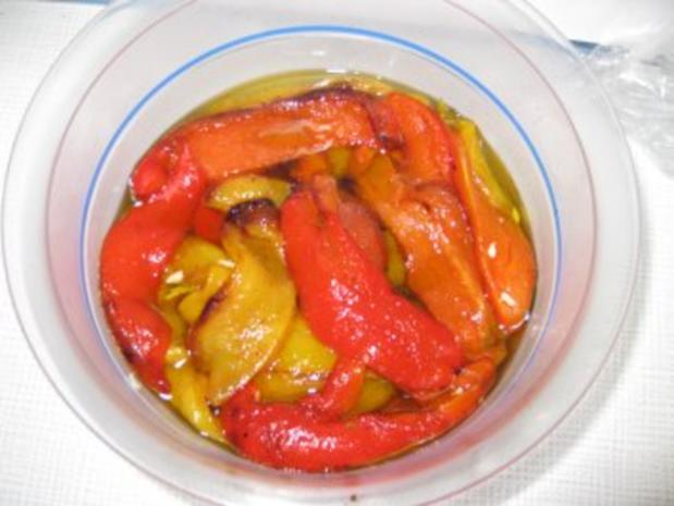 Marinierte Paprika - Rezept