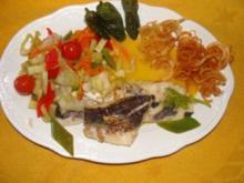 Fisch :  -Gebratene Merluzafilets- - Rezept