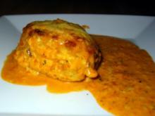 Ajvar-Hähnchenbrust unter der Käsehaube - Rezept