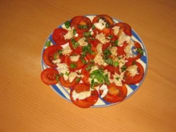 Tomaten-/ Mozarellasalat - Rezept