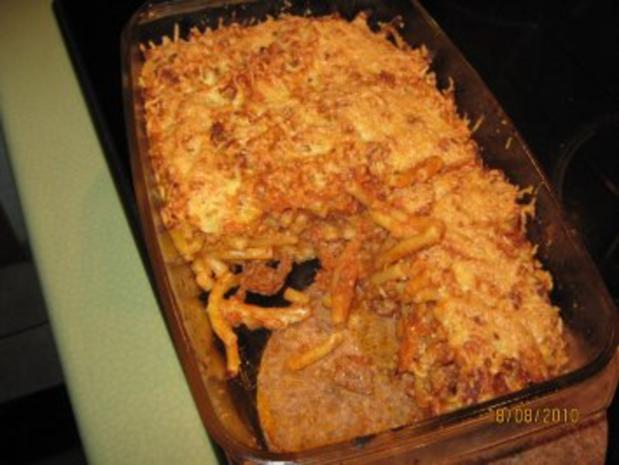 Makkaroni-Auflauf mit Hackfleisch und Pilzen - Rezept