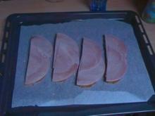Überbackenes Schinken-Tomaten Brot - Rezept