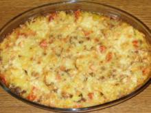 Auflauf herzhaft - Kartoffel - Hackfleisch - Gemüse - Auflauf - Rezept