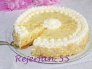 Mandarinen-Zitronen-Kühlschranktorte (mit Frischkäse) - Rezept