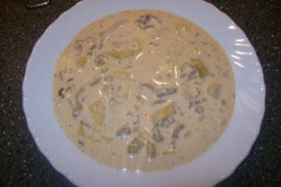 Eintopf - Hackfleisch Käsesuppe mit Lauch - Rezept