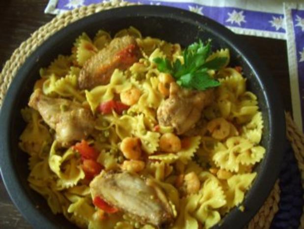 Paella-Nudeln - Rezept