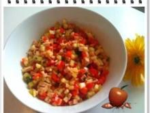Salat:  Schinkenwurst-Salat mit Paprika - Rezept