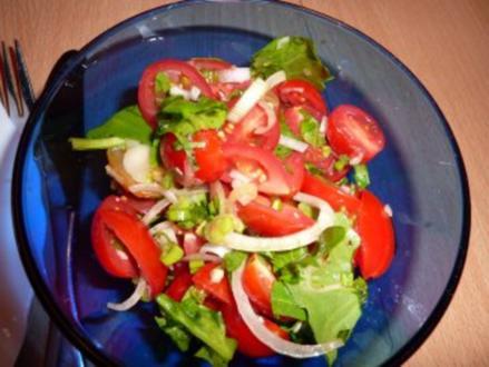 Salate: Tomate-Rucola-Salat - Rezept