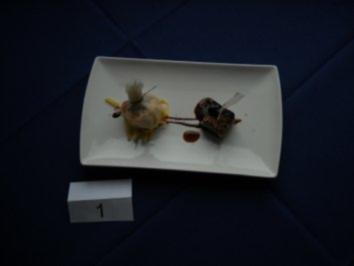 Rezept: Garnele gebacken im Reispapier, Süß-Saurer Gemüsesalat, Thunfisch mit Sesamkruste