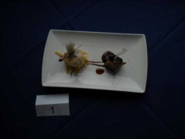 Garnele gebacken im Reispapier, Süß-Saurer Gemüsesalat, Thunfisch mit Sesamkruste - Rezept
