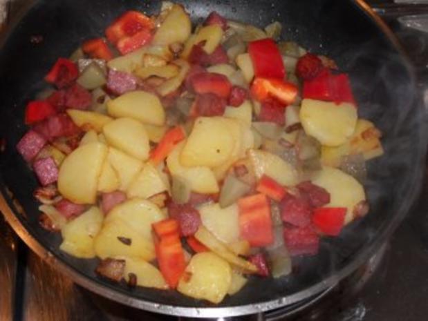 Bratkartoffel mit Resten - Rezept - Bild Nr. 4