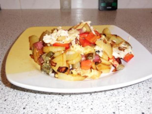 Bratkartoffel mit Resten - Rezept - Bild Nr. 6