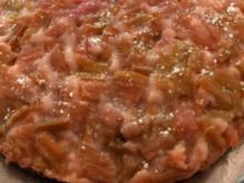 gestürzter Rhabarberkuchen - Rezept