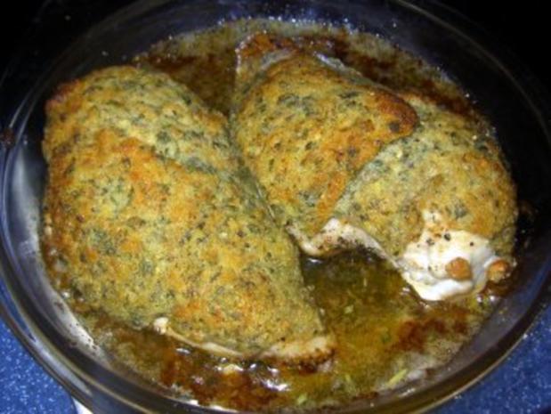 Hähnchenbrust mit Kräuterkruste - Rezept