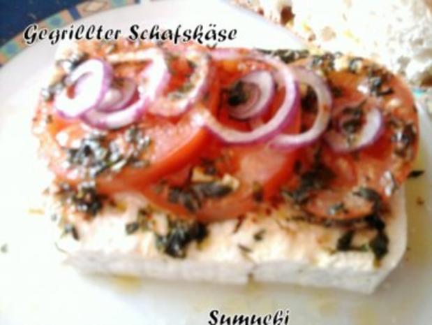 Gegrillter Schafskäse - Rezept