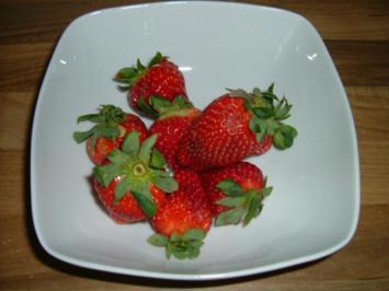 Marinierte Erdbeeren - Rezept