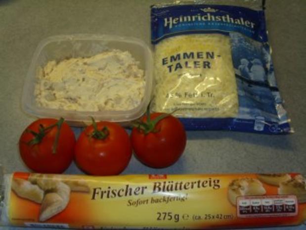 Pikante Kuchen: Blätterteig mit Zwiebelschmand und Tomaten - Rezept - Bild Nr. 2