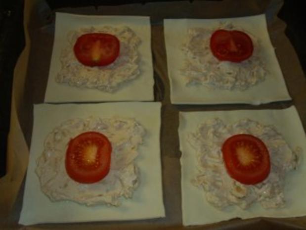 Pikante Kuchen: Blätterteig mit Zwiebelschmand und Tomaten - Rezept - Bild Nr. 5