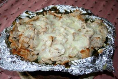 Puten-Spinat-Kartoffeln unter der Haube - Rezept