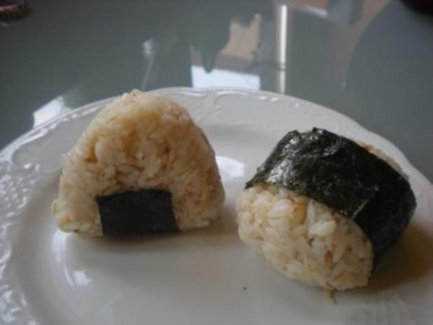 Snack: Onigiri - japanische Reisbällchen - Rezept