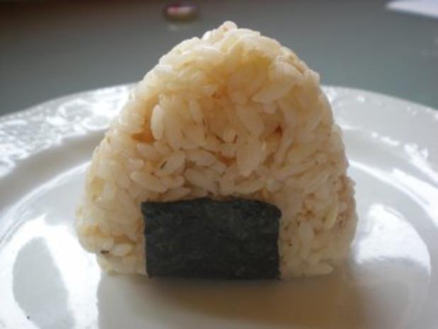 Snack: Onigiri - japanische Reisbällchen - Rezept - Bild Nr. 5