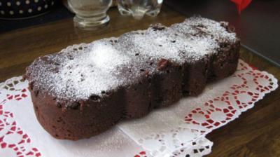 Schokoladenkuchen mit Silikonform in der Mikrowelle - Rezept