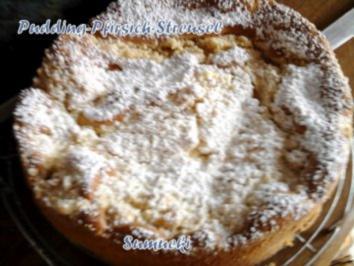 Pudding-Pfirsich-Streusel - Rezept