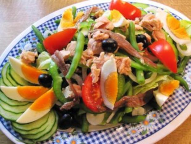 Mediterrane Salatplatte ... - Rezept - Bild Nr. 2