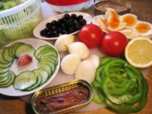 Mediterrane Salatplatte ... - Rezept