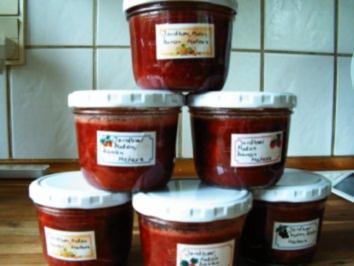Rezept: Erdbeer- Melone- Bananen- Marmelade mit Metaxa