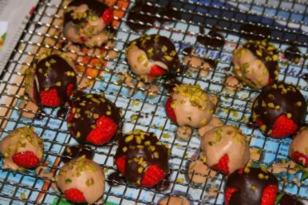 Erdbeeren mit Schoko Glasur - Rezept - Bild Nr. 2