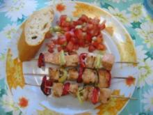Lachsspieße mit Tomatensalsa - Rezept