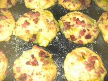 Schinken-Lauch-Muffins - Rezept