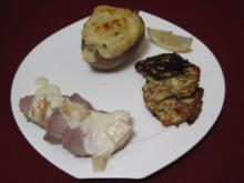 Kalbsfilet in Gorgonzola-Soße mit Trüffelkartoffeln und Zucchinitalern - Rezept