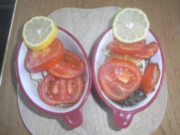 Kabeljaufilet mit Tomaten überbacken - Rezept