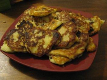 vogtländische Quarkkeulchen oder süße Reibekuchen/ Kartoffelpuffer - Rezept