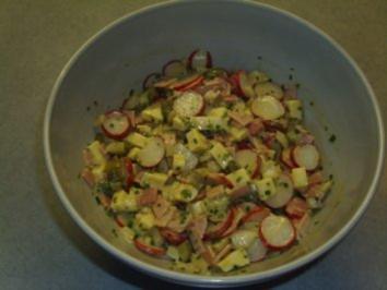 Salate: Käse-Wurst-Salat - Rezept