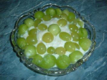 Dessert.......Kühle Früchtchen......mit Joghurt-Pfirsich-Creme - Rezept