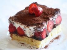 Stracciatella-Erdbeer-Schnitten - Rezept