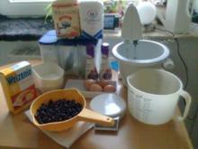Biskuitrolle mit Blaubeeren ! ( Heidelbeeren !) - Rezept