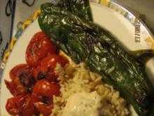 gegrillte Peperoni und Tomaten - Rezept