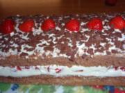 Torte: Schokolade-Erdbeer-Schnitten - Rezept